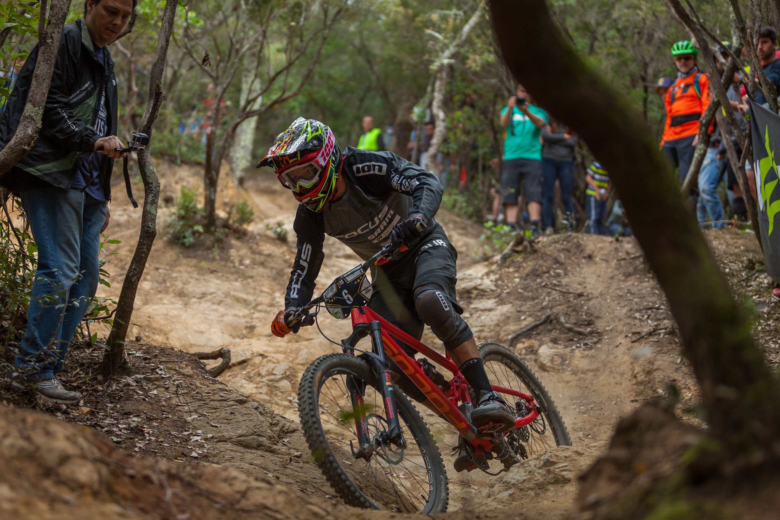 Races down the stage 4 during the first stop of the European Enduro Series in Punta Ala, Italy, on April 26, 2015. Free image for editorial usage only: Photo by Antonio López Ordóñez.