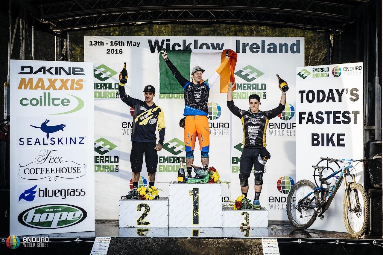 Men's podium; 1st Greg Callaghan, 2nd Sam Hill, 3rd Richie Rude