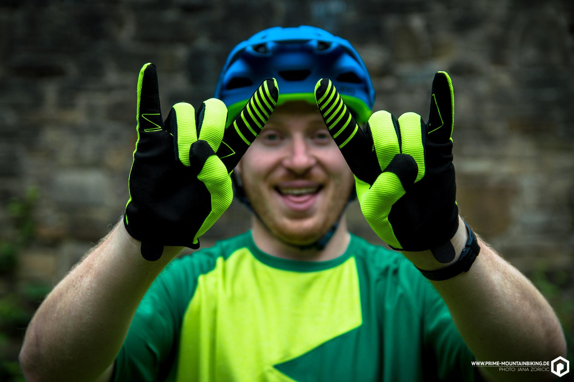 Hörner zeigen klappt mit den Zanier Handschuhen schon mal gut!
