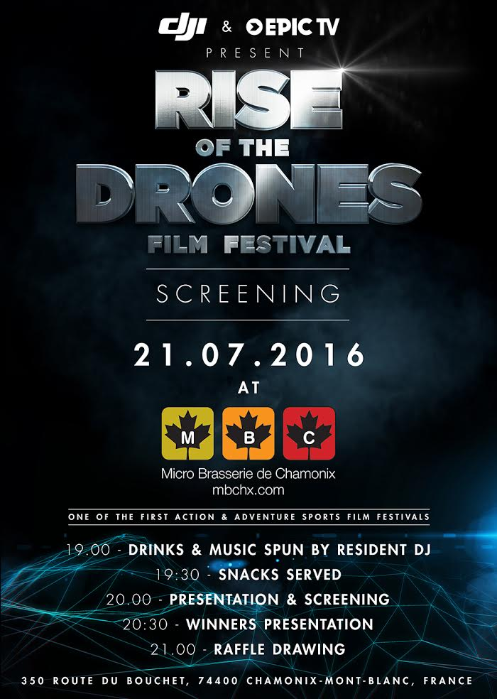 DJI Rise of the Drones festival invite - English