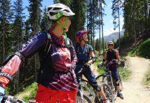 Für die fortgeschrittenen Bikerinnen ging es auf die legendäre Teäre Line in der Bike Republic Sölden.