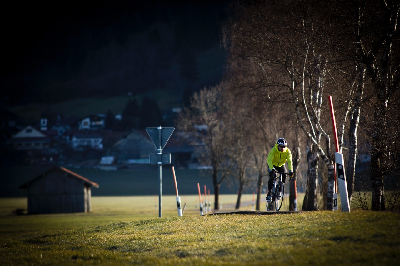 Im Winter werden die Bikes auch mal getauscht.
