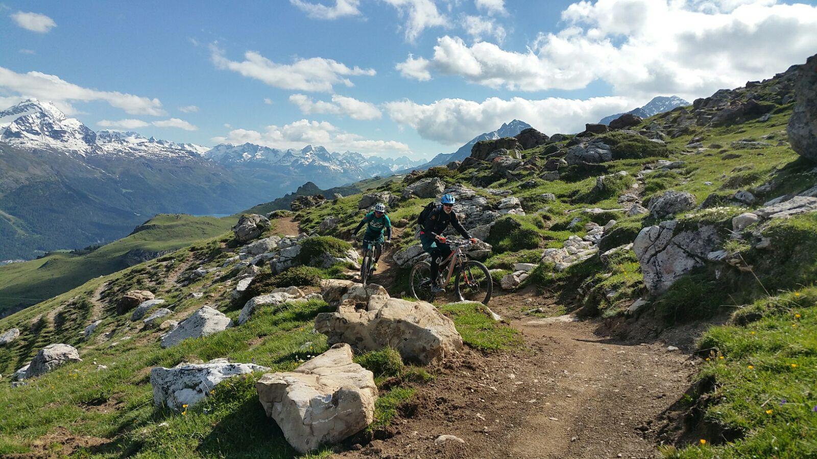 Das Scouting der Trails auf Corviglia macht Lust auf mehr!