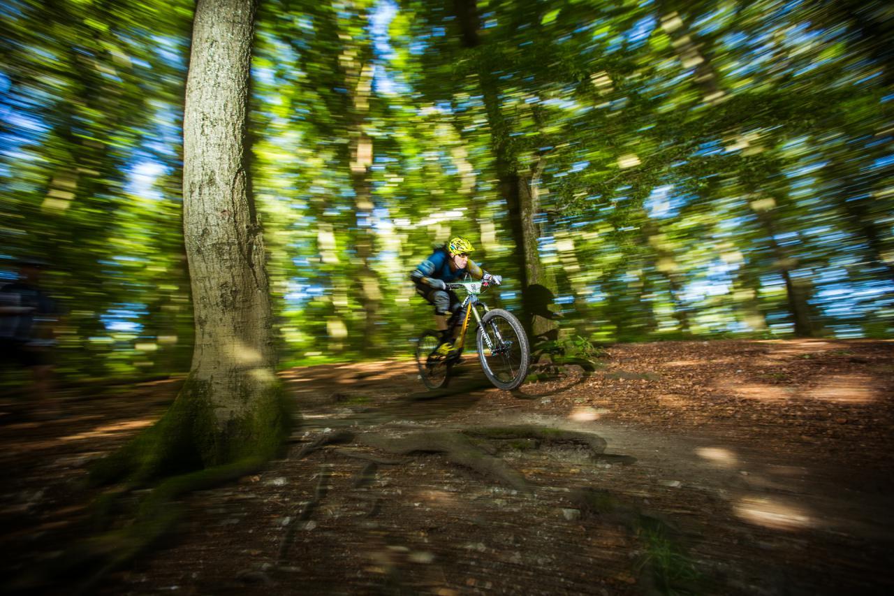 Highspeed und Flow erwarteten die Teilnehmer beim dritten Lauf der Enduro One Serie am Dünsberg.
