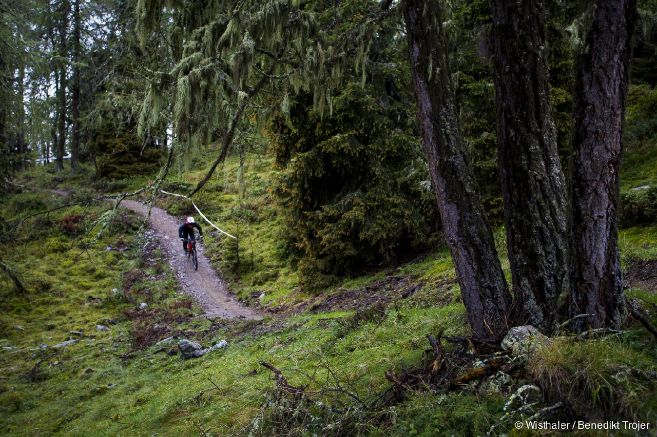 Flow satt gab's auf dem Gassl Trail auf Stage 5.