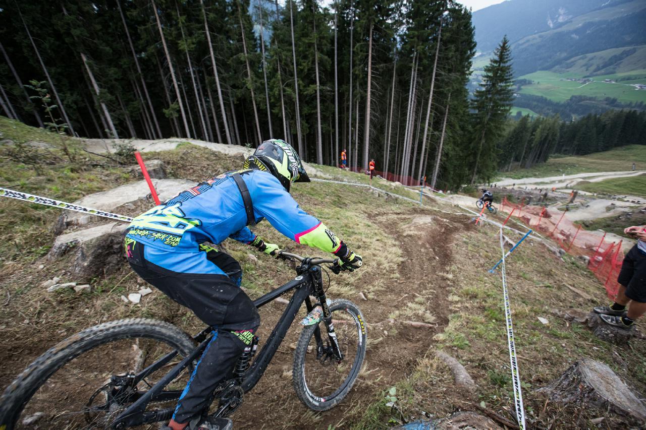 Die Strecke in Leogang bot Fahrern sowie Zuschauern Racing auf Top Niveau.
