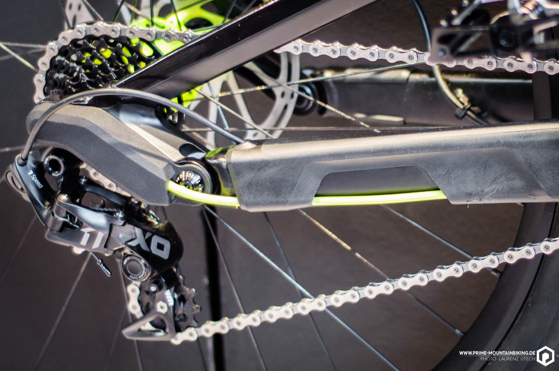 Canyon präsentiert auf der Eurobike 2016 eine Hinterradnabe für den Downhilleinsatz, dessen Freilauf sich per Remote ausschalten lässt.