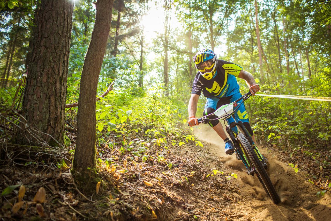 Andre Kleindienst vom Bergamont Hayes Faktory Team war auch in Bad Endbach wieder hart am Gas und landete auf dem dritten Platz.