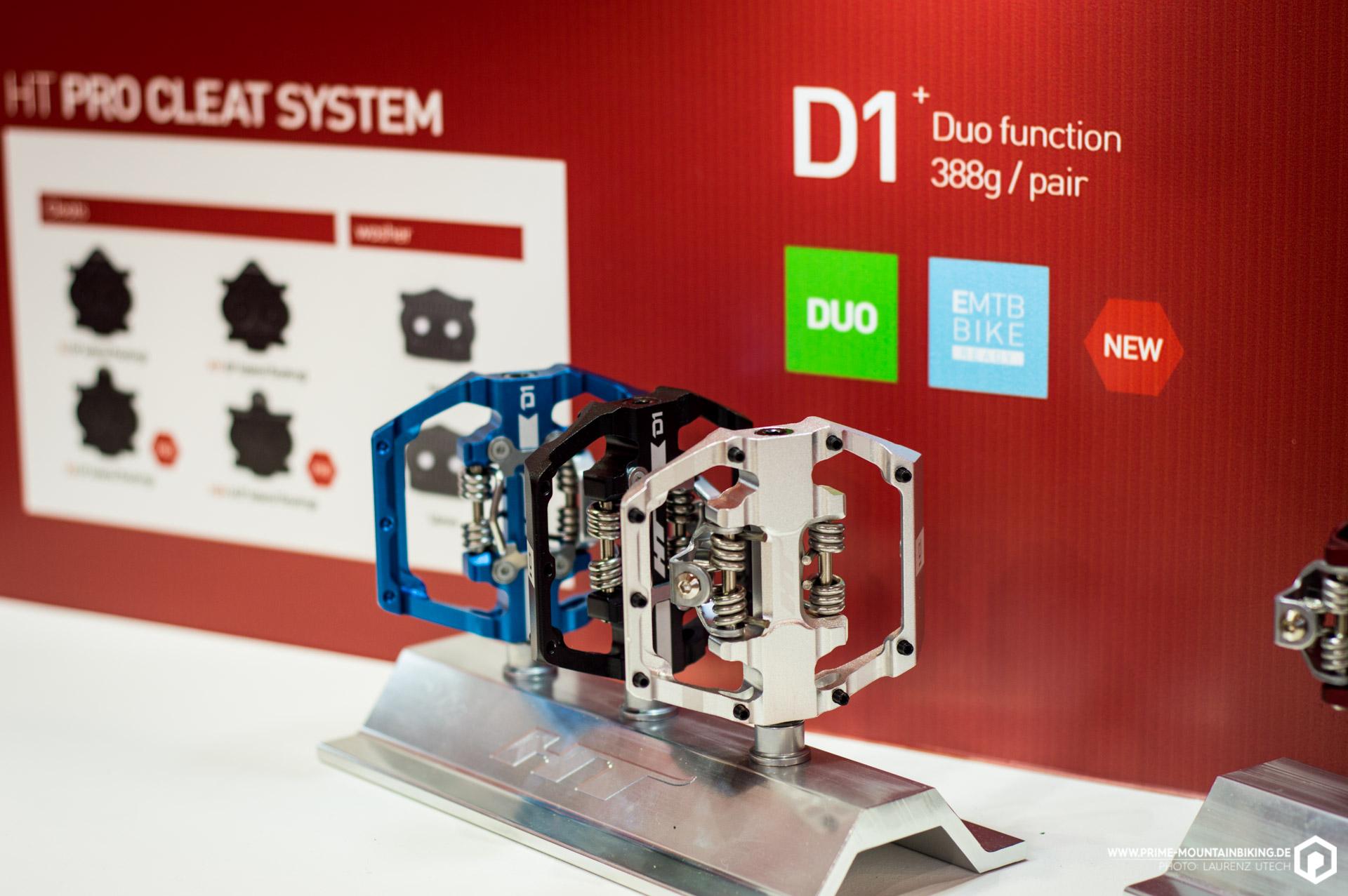 Ganz neu im Aufgebot der Klickpedale bei HT sind die D1 Pedale, die mit ihrer dualen Funktion vor allem Hobby- und E-MTB-Fahrer ansprechen sollen.