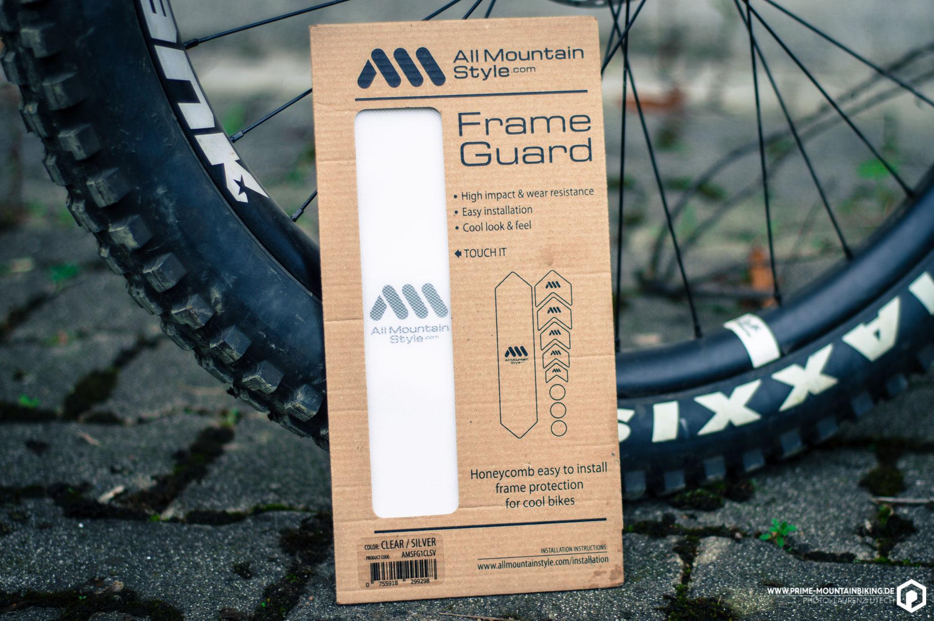 Der Honeycomb Frame Guard von All Mountain Style soll deinen Rahmen vor Lacplatzer und Schrammen schützen.