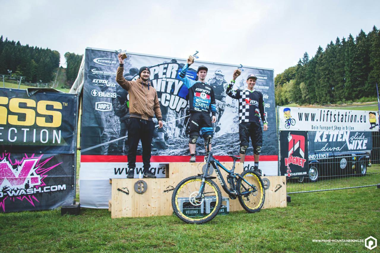 Die Super Gravity NRW Cup Gesamtsieger der Herren.