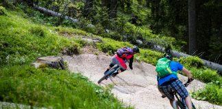 Da kommt Freude auf - zahlreiche, perfekt geshapte Anlieger, Roller, Sprünge und sogar das ein oder andere Holzelement hat der Carezza-Trail zu bieten!