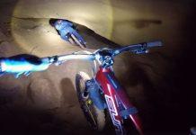 Kilian Bron Mountainbike in Höhle