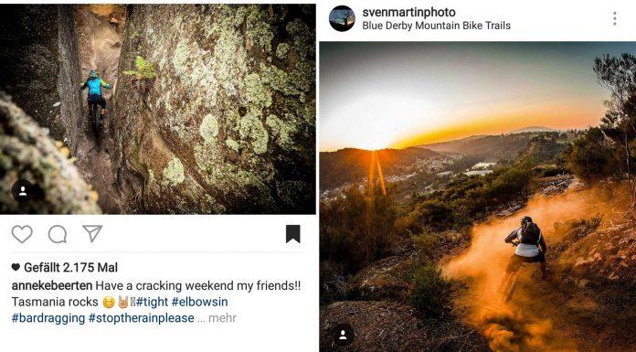 Instagram Posts der EWS #2 in Tasmanie