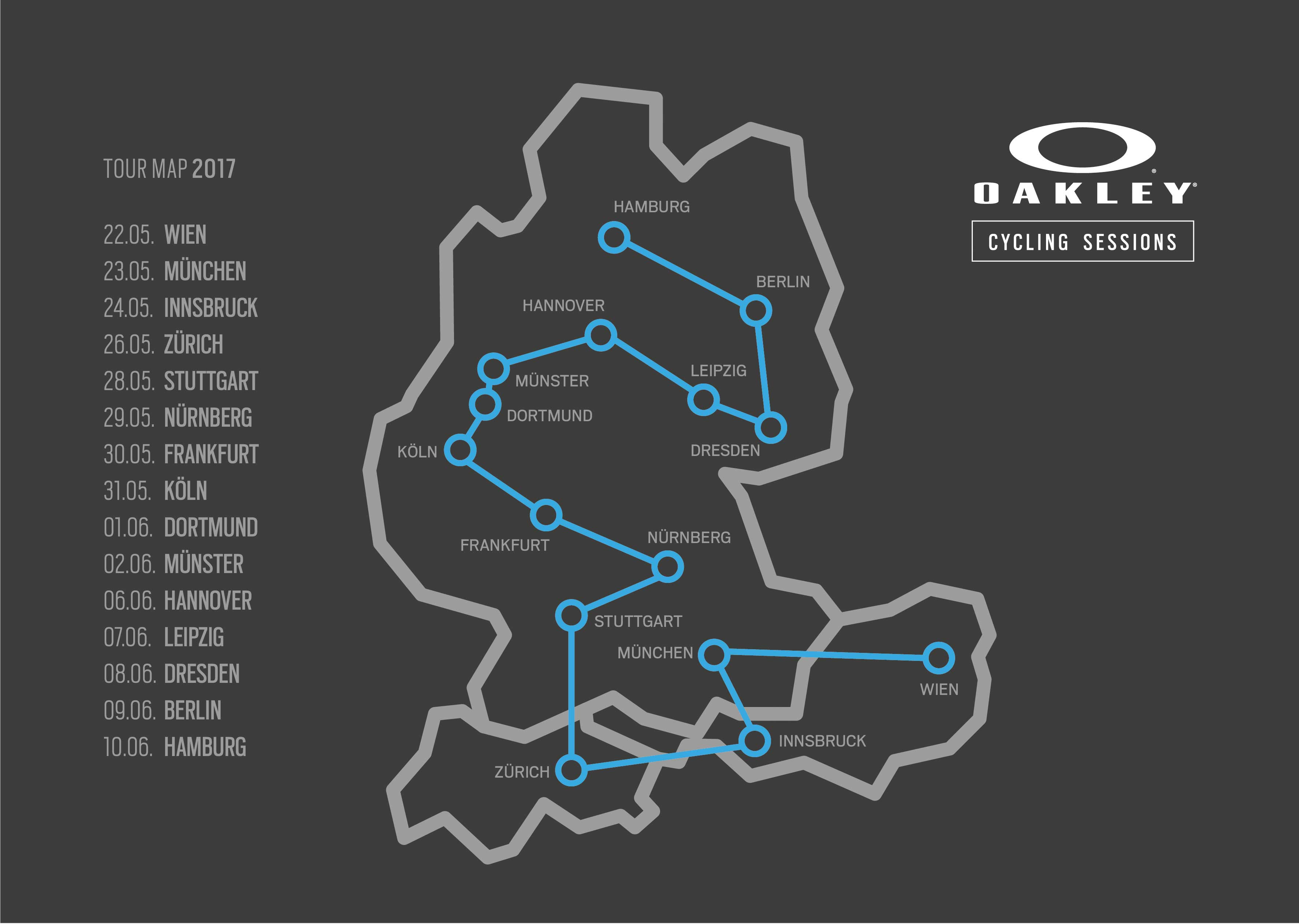 Oakley Cycling Sessions Tour 2017
