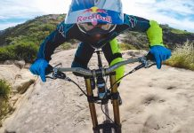 Aaron Gwinn rockt den Top Of The Worlds-Trail