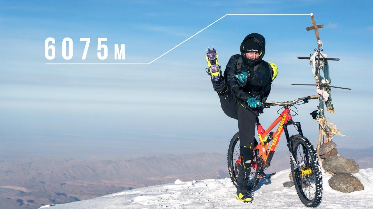 Mountainbiken oberhalb von 6.000 Metern